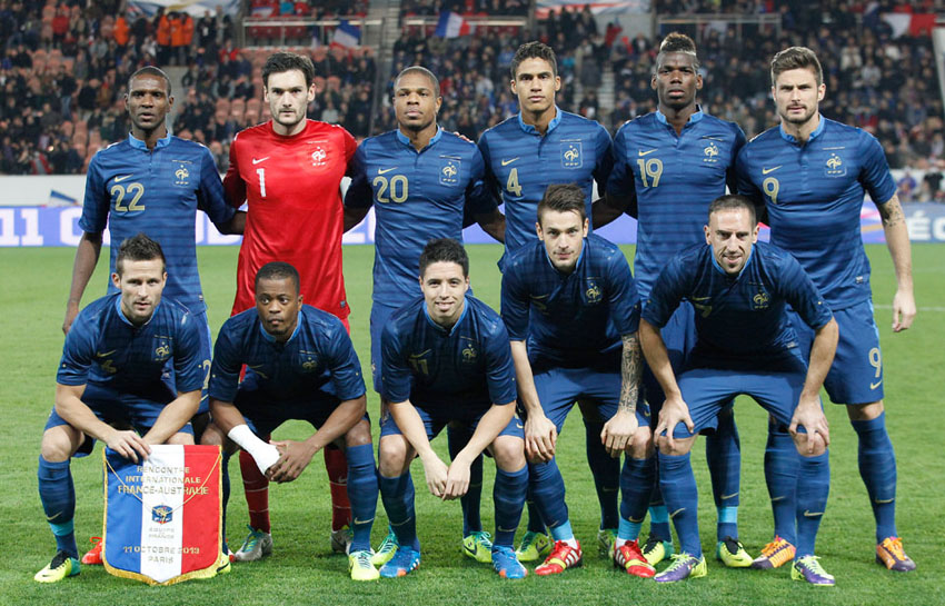 Image result for photos france's soccer team at world cup