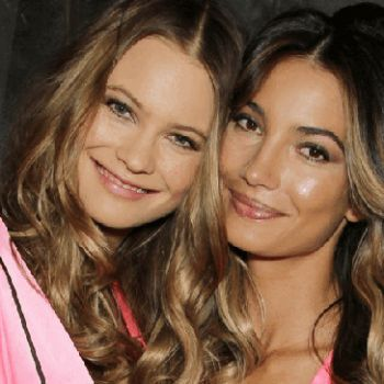 Behati Prinsloo shops for her coming child, with Lily Aldridge