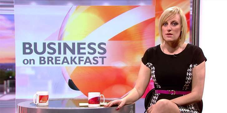 Steph McGovern makes fun of Dan Walker on the set of BBC Breakfast