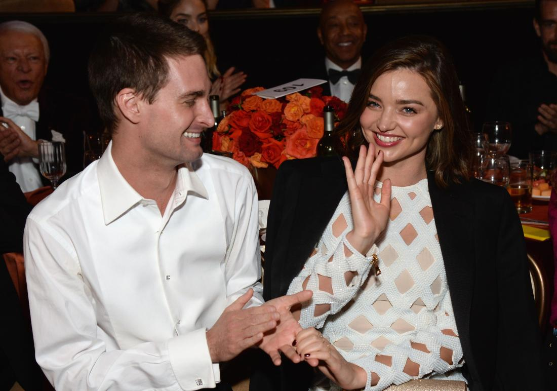 Model Miranda Kerr is engaged to Snapchat's founder Evan Spiegel