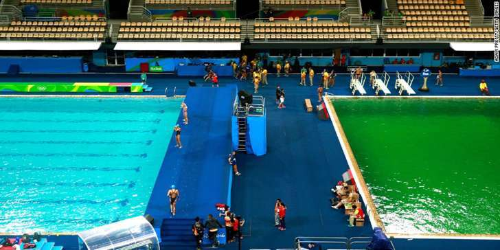 OMG! Olympic diving pool has turned green in Rio. Social media reacts to that weird happening!