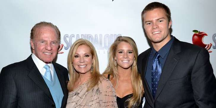 Television host Kathie Lee Gifford is still happy along with her children despite her two marriages
