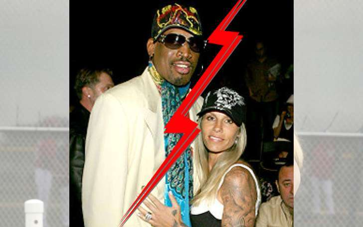 Is basketball star Dennis Rodman married after his divorce to Michelle Moyer in 2012?