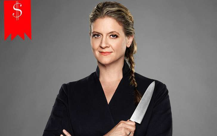 How much Amanda Freitag earns from Resturant and her career as a Chef