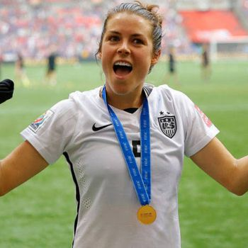 Kelley O'Hara and her boyfriend Adam Sweat dating since childhood. Know about their affairs
