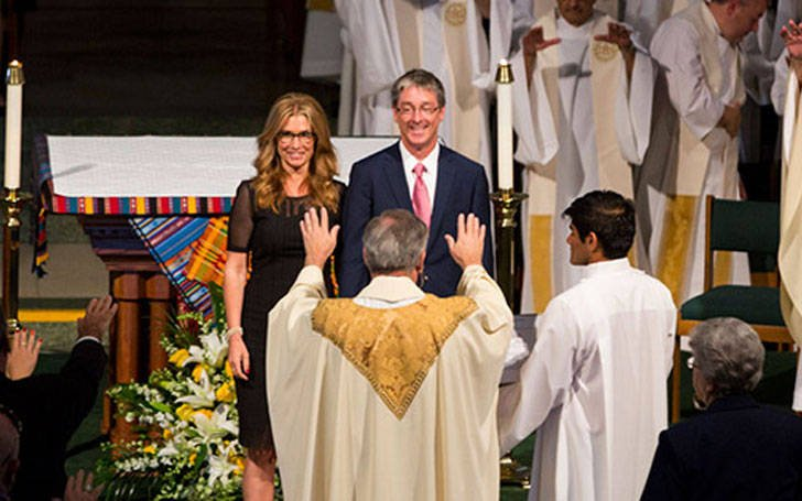 Timothy Law Snyder and Carol Costello marriage at the church