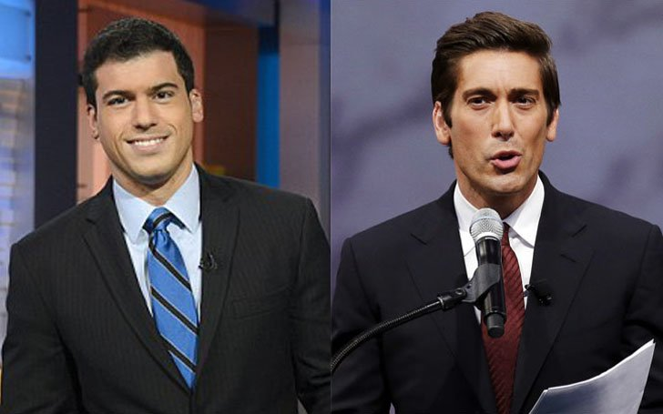 Highlight the ongoing relationship between ABC's gay journalist David Muir & Gio Benitez