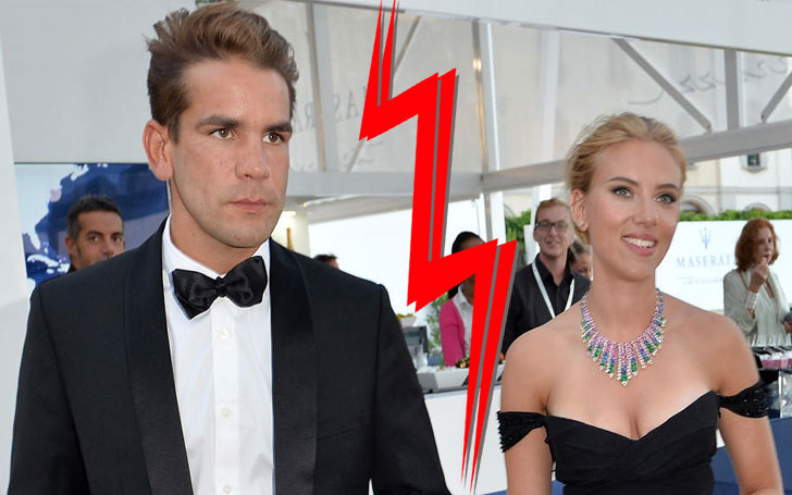 Why did Scarlett Johansson and Romain Dauriac get divorced?