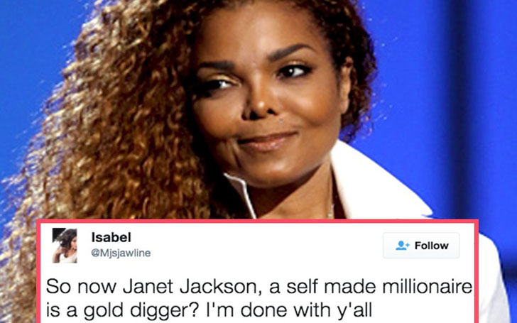 Janet Jackson Trolled For Being A Gold Digger. Friend Came For Defense