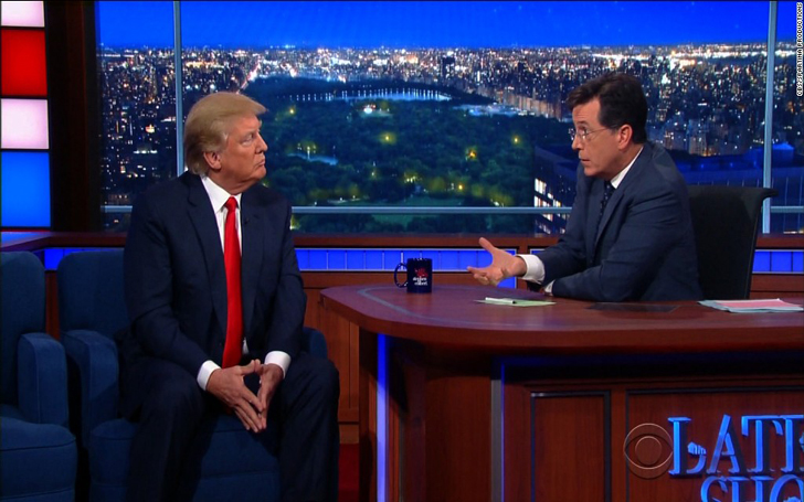 Stephen Colbert Takes President Trump's Case For Insulting Colleague John Dickerson