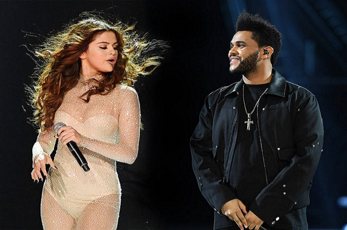 Camera Flashes as Selena Gomez Goes Braless in a Little Black Dress with The Weeknd