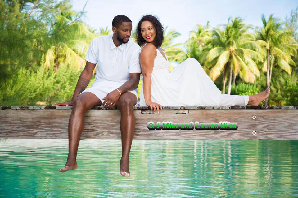 NBA C. J. Miles Married to Lauren Miles and Living Happily Together. Complete Details!