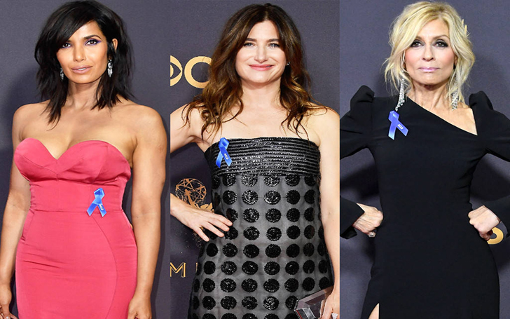 Emmy's Red Carpet Spotted Judith Light, Elisabeth Moss and More Stars Wearing ACLU Ribbons