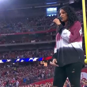 Singer Jordin Sparks Expresses Hidden Message During National Anthem at MNF NFL In Arizona