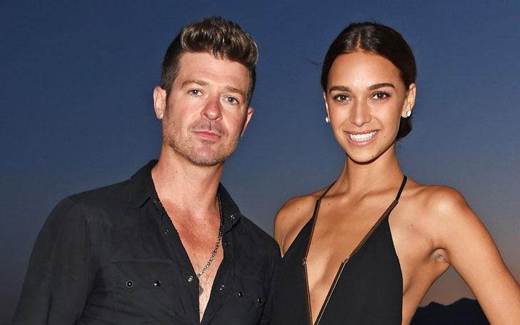 Robin Thicke's Pregnant Girlfriend April Love Geary Poses Nude - Pictures Included