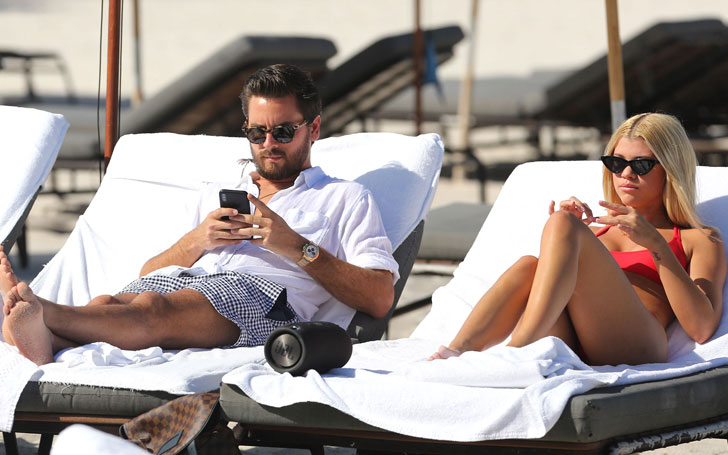 Scott Disick and Sofia Richie at Miami Beach in earlier December