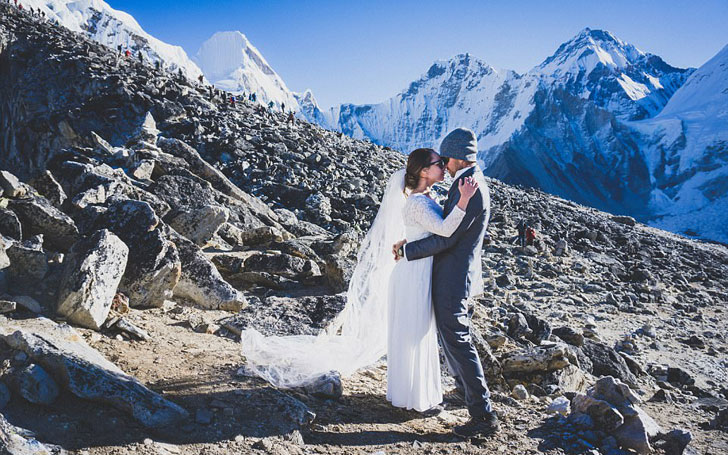 Australian Couple Ties Knot At The Top Of The World In Full Wedding Attire