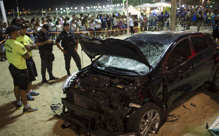 A Baby Died And 15 Injured In Copacabana Beach After A Car Ploughed Into Pedestrian