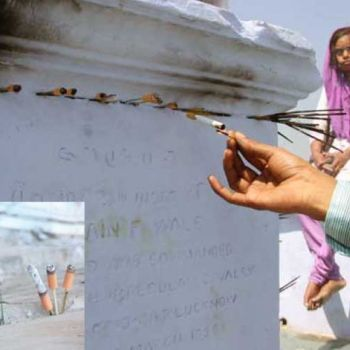 A Tomb in India Where People Offer Cigarettes Instead of Incense and Flowers