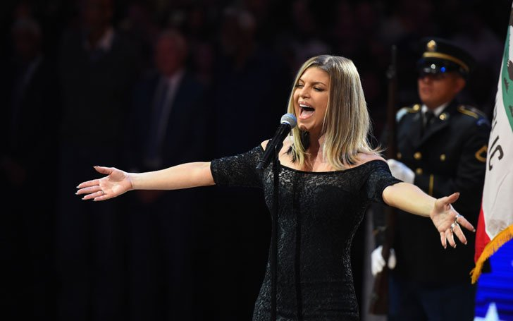 Can't Be Worse!! All-Stars Can't Hide Laughter As Fergie Put Her Spin On ''The Star-Spangled Banner