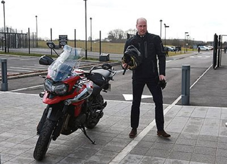 Prince William Test Drives the Latest Triumph Tiger 1200 Even Though It Fills His Wife with Horror