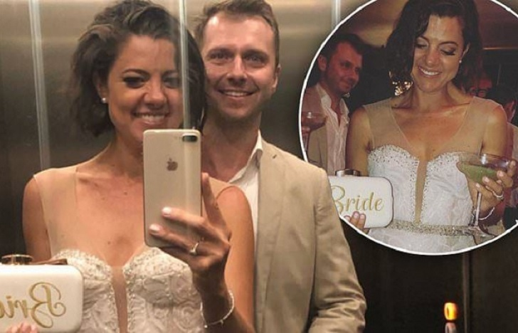 Amber Lawrence MARRIES�Tinder lover Martin Newman