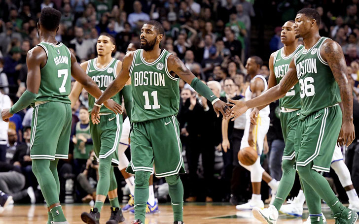 Boston Celtics Celebrate Thrilling Win Over Utah Jazz After Jaylen Brown's Buzzer Beating 3-Pointer