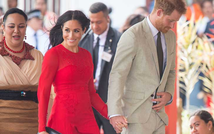 Duchess Of Sussex Meghan Markle Makes A Rare Wardrobe Faux Pas As She Touches Down In Tonga