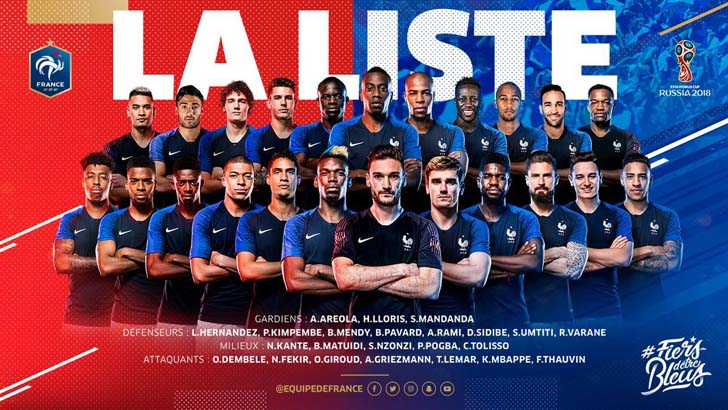 France revealed a 23-man squad - Alexandre Lacazette and Anthony Martial left out of the squad