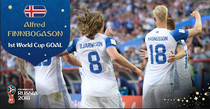 Iceland Records Their First Goal In The History Of World Cup