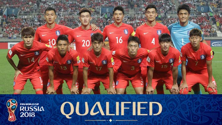 Korea Republic National Football Team, World Cup 2018