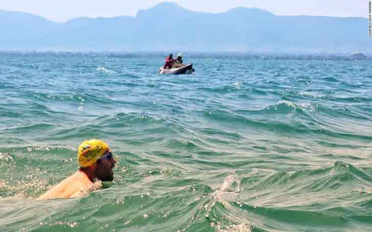 Man Swims 54 Days Straight In A Crocodile Infested Lake To Set World Record