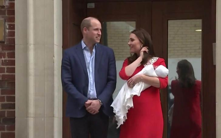 Duke Of Cambridge Williams And Duchess Kate Middleton Welcome Third Child Together: Kate Tributes Her Late Mother-In-Law Princess Diana