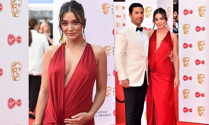 Pregnant Amy Jackson Cradled Her Baby Bump At The BAFTAs TV Awards