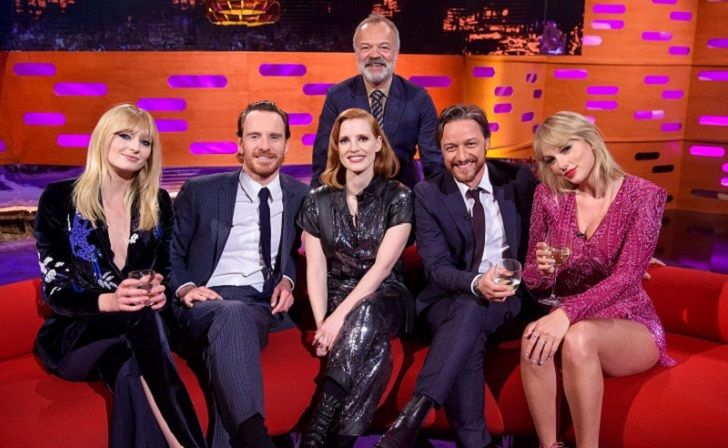 Taylor Swift And Ex Joe Jonas' New Wife Sophie Turner Are All Smiles On The Graham Norton Show
