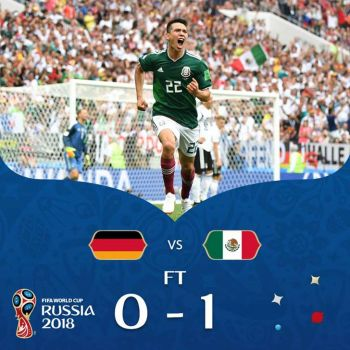 A Big Upset For Germany As Mexico Bag A 1-0 Win
