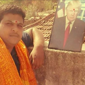 A South-Indian Farmer Worships American President Donald Trump Like A Hindu God