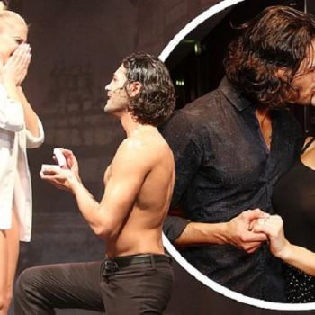 Graziano Di Prima PROPOSES Girlfriend Giada Lini Live Onstage At Burn The Floor