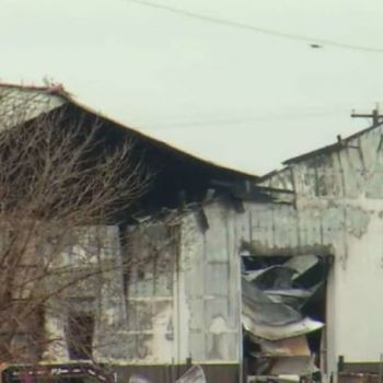 Fire Demolishes Large Garage At Casselton, Buffalo