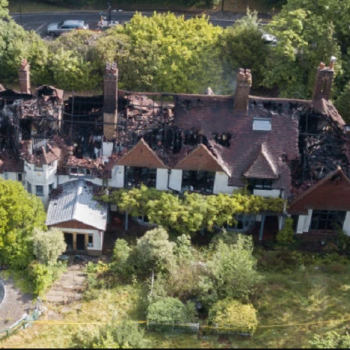 Oritse Williams' �3 Million Worth Mansion Burns To The Ground