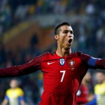 Portugal's Ronaldo Scores The First Goal In A Penalty Shootout And Scored The Second Before The Half