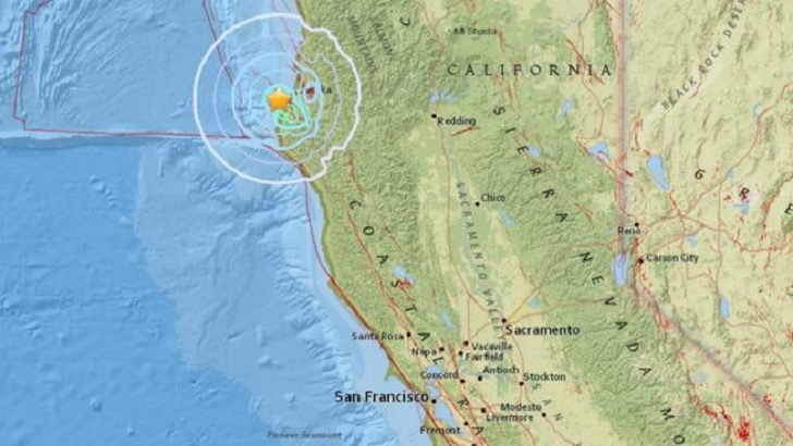 Two Earthquakes Hit Off Northern California Coast-Authorities Declines Tsunami Risks