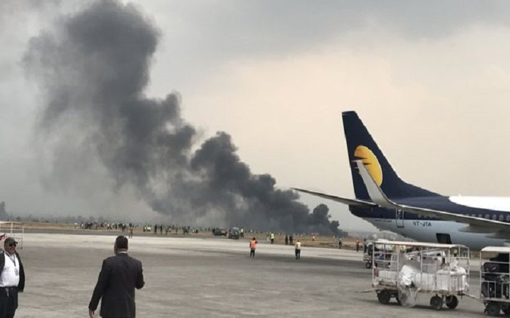 US- Bangla Plane Crashes at Nepal�s Kathmandu Airport. 67 Passengers on Board, 17 Rescued