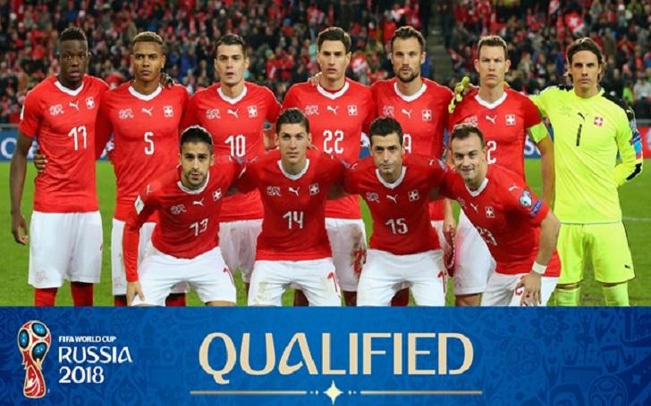 Timnas Switzerland di Piala Dunia 2018.