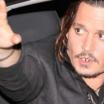 Johnny Depp Has Golden Tan and Fresh Mohawk While Out With his children Amid Divorce Drama